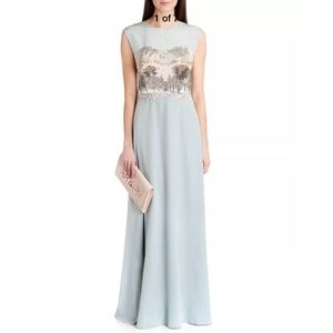 """NEW Ted Baker London """"Cristaa'' Beaded Ombre Gown"""